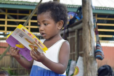 This young preschooler attends an Early Learning Centre (ELC) at Ladava