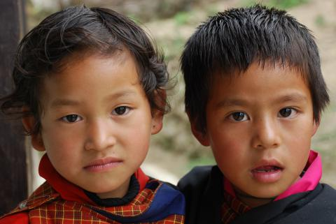Images of children in Bhutan
