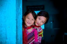 Giang Thi Ly (class 4A), Ma Thi Do (class 4A) sharing room #4 at Sin Cheng semi boarding ethnic lower secondary school