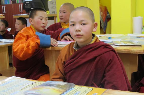 The boy monks who live in this monastery come from very different backgrounds